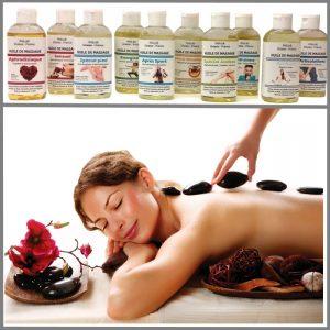 Huile de massage aux synergies