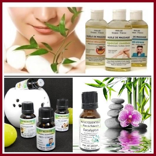 Aromathérapie : Huile essentielle, Synergie, huile de massage
